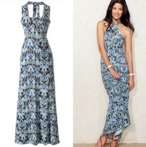 2/$25 CAbi Batik Convertible Maxi Dress Style 850